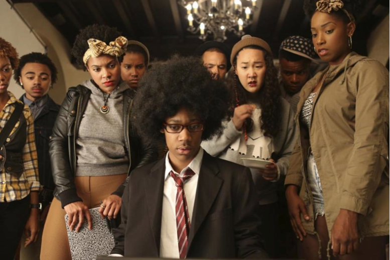 "Screen shot from ""Dear White People."""